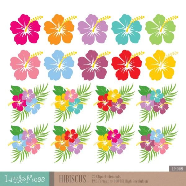hibiscus digital clipart hawaiian