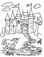 Malvorlagen Burg Kunst für Kinder Prinzessin Schloss Kunst