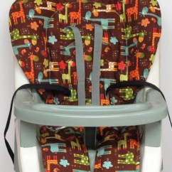 Graco Contempo High Chair Replacement Cover Shower Chairs And Stools Pad Giraffe Parade