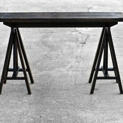 Horse Sofa Table Latest Set Designs For Drawing Room Trestle Style Console Sawhorse