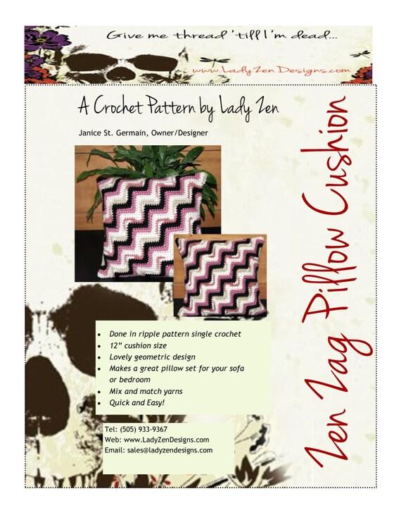 Crochet Pattern - Pillow Cushion Cover - Chevron Pattern