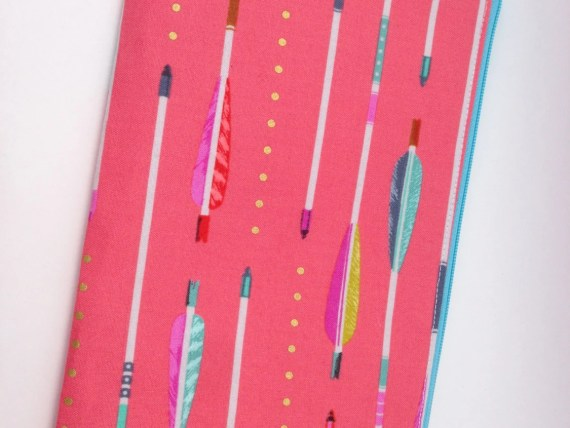 Handmade Back to School Supplies - Arrow Pencil / Cosmetic Case from Whitty Creations