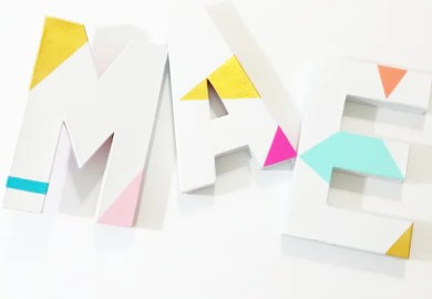 Wall Decor Block Letters