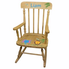Personalized Rocking Chair For Toddlers Poolside Table And Chairs Hand Painted Childs Spindle