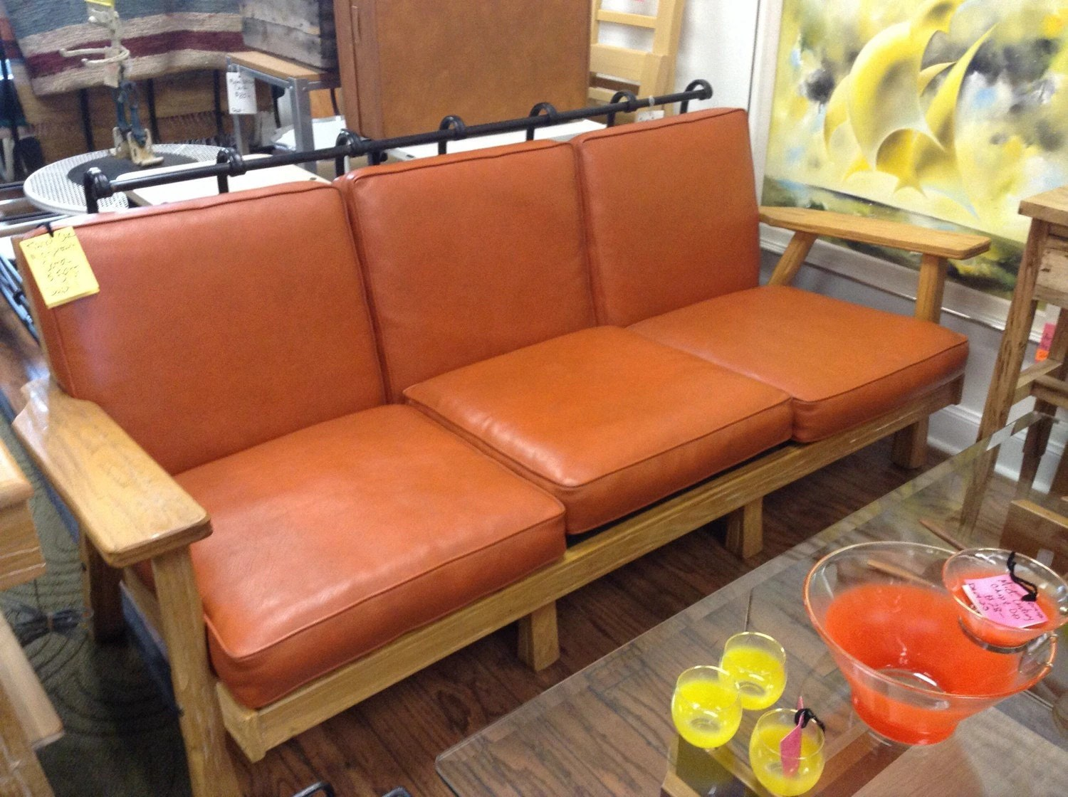 sofa san mateo gray chaise lounge mid century modern furniture ranch oak by