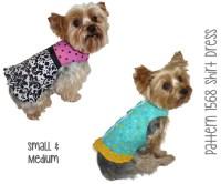 Dog Shirt Dress Pattern 1568 Small & Medium Dog Clothes