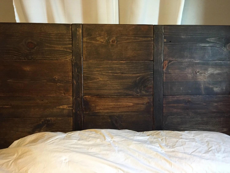 reclaimed wood headboard king  Etsy