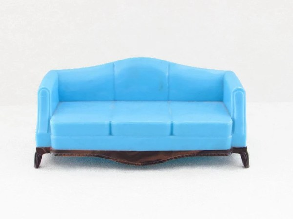 Vintage Plasco Dollhouse Furniture Sofa Plastic by