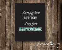 Items similar to Awesome Quote Printable Wall Art Decor ...