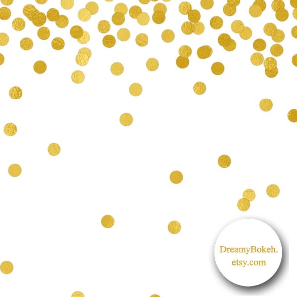 gold foil confetti digital paper