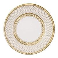 8 big serving gold paper plates / charm Paper Plates / Floral