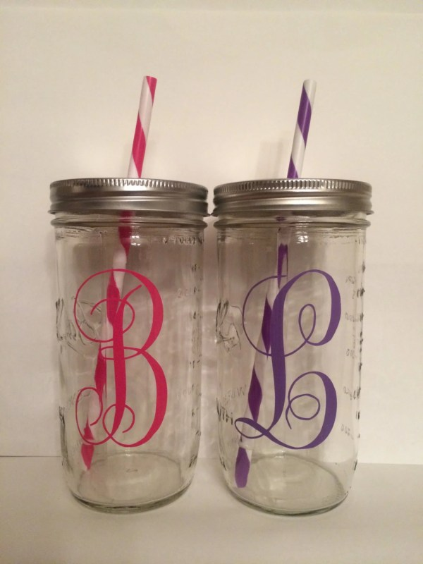 Personalized Mason Jar Cup Tumbler Excercise