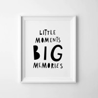 Nursery print printable wall art Little moments Big