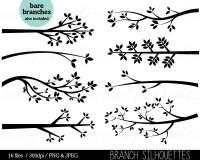 Branch clipart Tree Branch Silhouette Clip art Tree