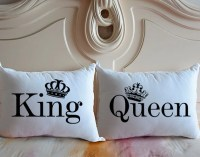King & Queen coussin couvre personnalis literie taie
