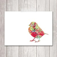 PRINTABLE ART Bird Art Print 5x7 Sparrow by DreamBigPrintables