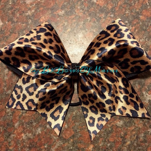 Leopard Love Cheer Bow Animal Print