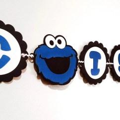 Cookie Monster Chair Marcel Breuer Cesca With Armrests Sesame Street Banner