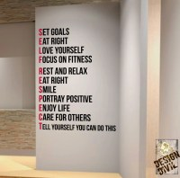 Set goals You can do this. Wall Fitness Decal Quote Gym