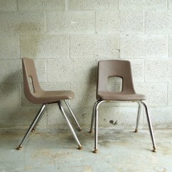 Artco Bell Chairs Silver Metal And Wood Dining Vintage Pair Of Industrial School Chair Kids Childrens
