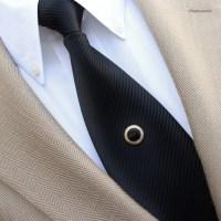 Mens Tie Tacks Black and Gold Tie Tack Mens Tie Tack Pin
