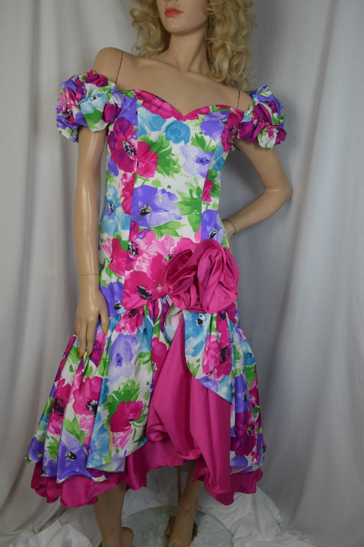 1980s Prom Dress Alyce Designs Vintage Party by Gottalovevintage1