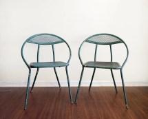Vintage Folding Patio Chairs Tempestini Salterini Outdoor Lawn