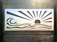 Ocean Wall Art Silver Wall Decor Wave Wall Art by ...