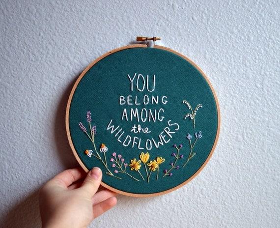 spring crafts for kids embroidered hoop