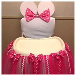 Mickey Mouse High Chair Decorations Cover Rental Milwaukee Minnie Tutu And For