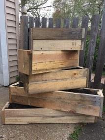 Two 2 Pallet Wood Flower Boxes
