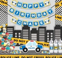 Police Birthday Party Printable Party Decorations Supplies