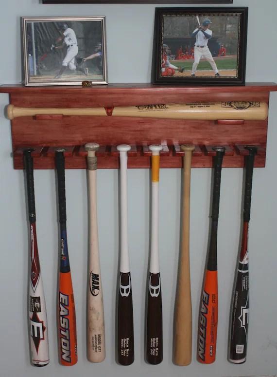 Baseball Bat Display Wall Shelf