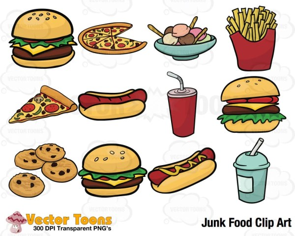 junk food clip art digital clipart
