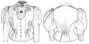 Truly Victorian 1870 Ladies Blouse Bodice Pattern NEW