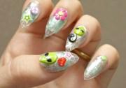 90s nails stiletto alien
