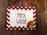 USC Trojan classroom door decoration by LillouHandmade on Etsy
