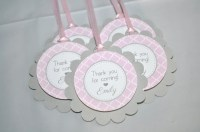 Girls Baby Shower Favor Tags It's A Girl Favors Pink