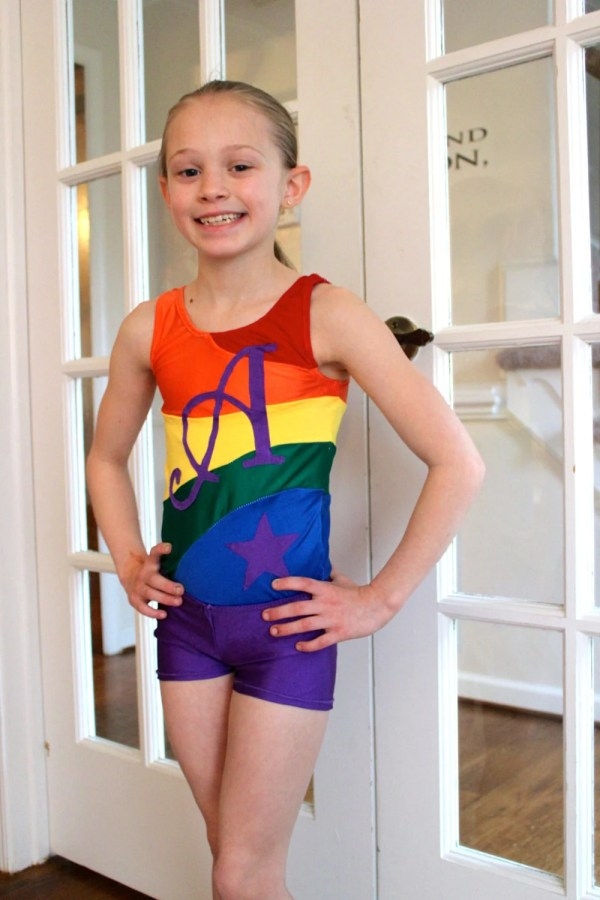 Rainbow Gymnastics Leotards for Girls