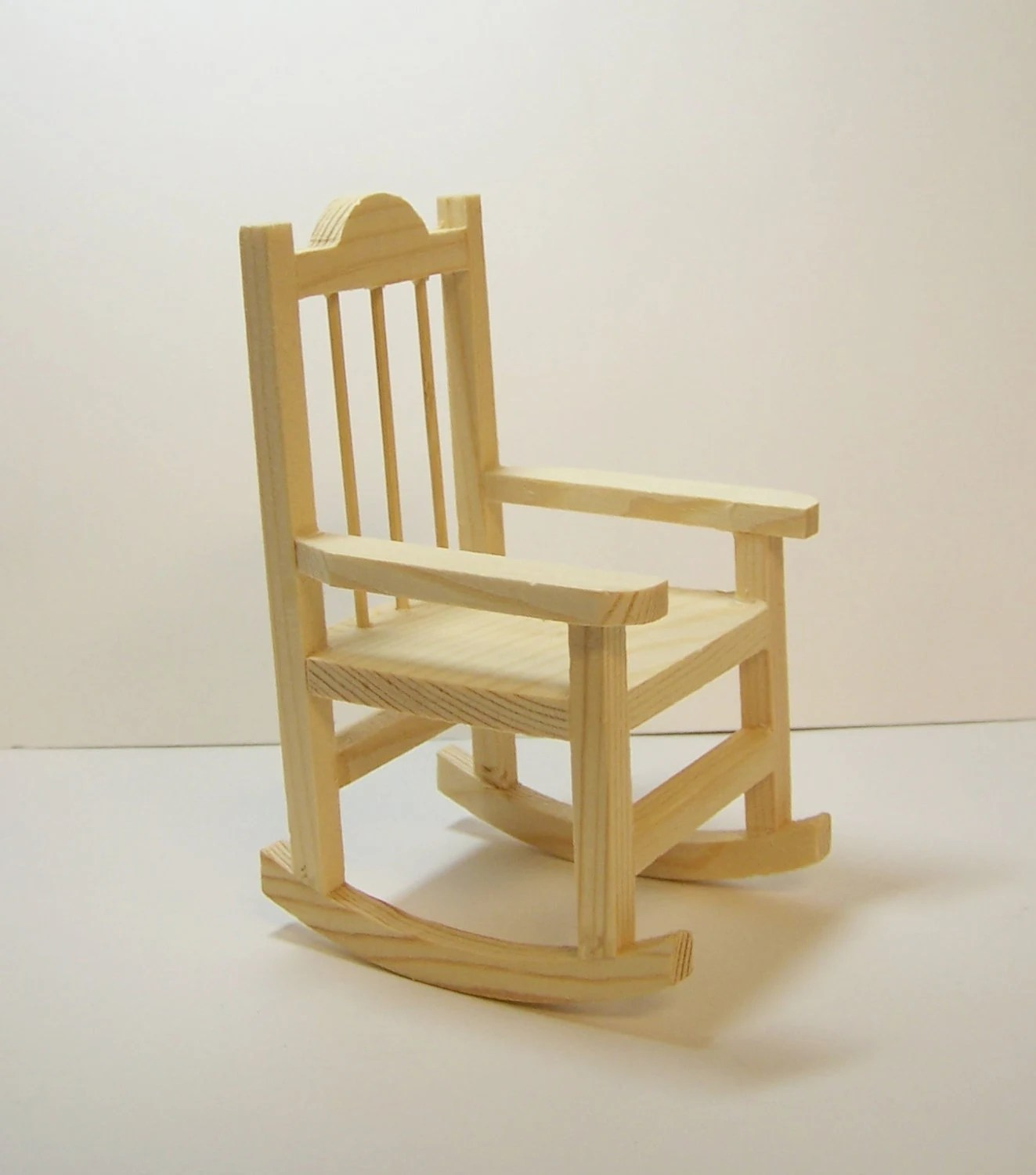 mini rocking chair ergonomic ball office miniature unfinished wood ready to paint or