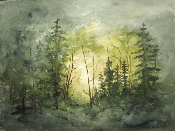 Fine Art Print Of Original Watercolor Painting 11x14