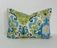 Blue And Green Decorative Pillows - Bestsciaticatreatments.com