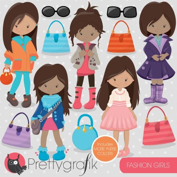 fashion girls clipart