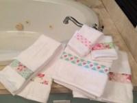 SALE Shabby Chic Bathroom Towel Set Tanya Whelan shabby chic
