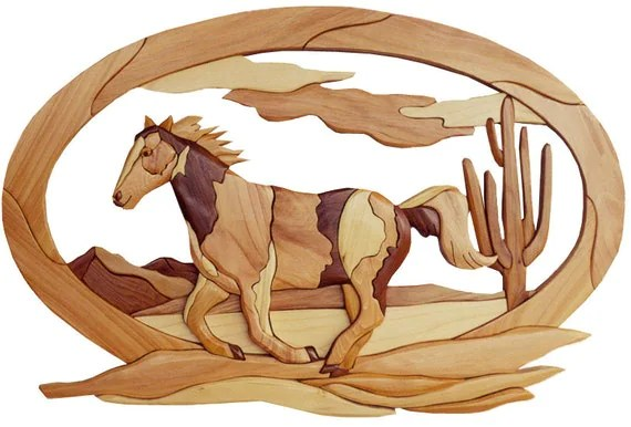 Intarsia Woodworking PATTERN HORSE