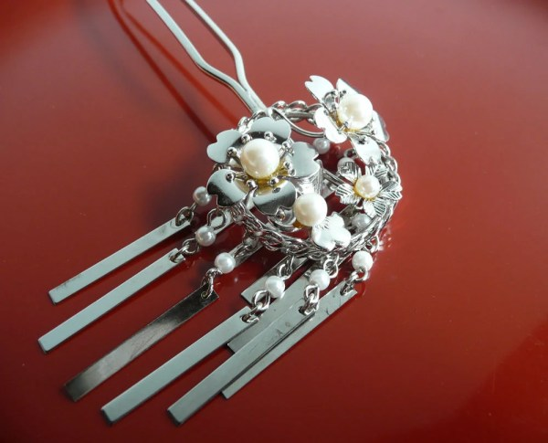 Reserved Vintage Kanzashi Hair Ornament Short