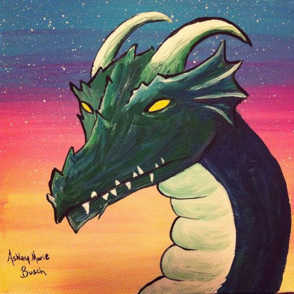 Dragon Acrylic Painting