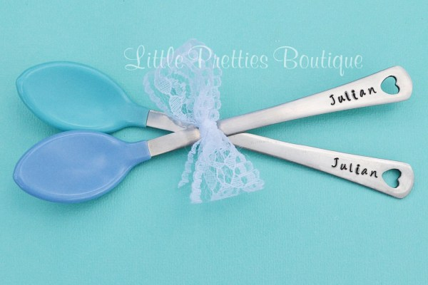 Personalized Baby Spoons Shower Hand