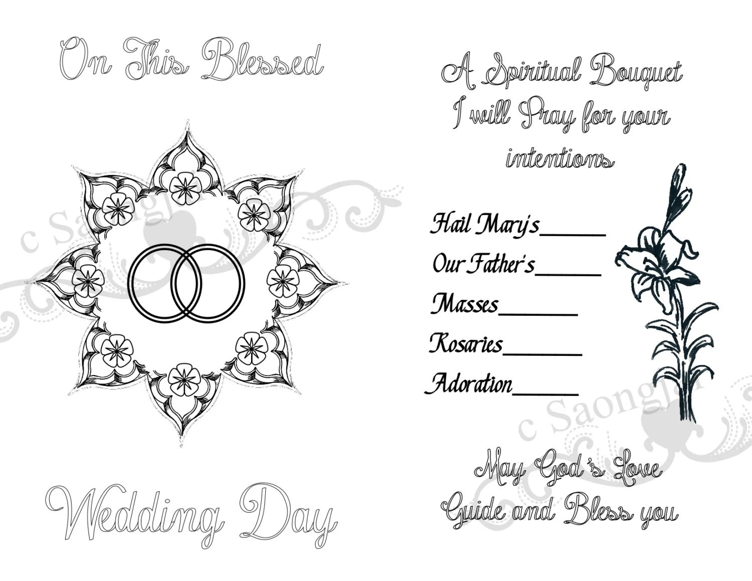 Spiritual Bouquet Cards Printable PDF