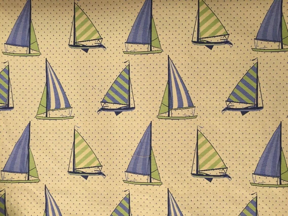 sail cloth beach chairs nursing chair accessories boat regatta blue green upholstery fabric by the